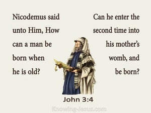 John 3:4 How Can A Man Be Born Again beige