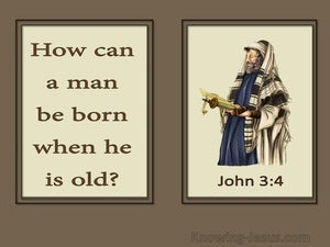 John 3:4 How Can A Man Be Born Again brown