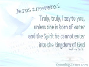 John 3:5 Born Of Water And The Spirit blue
