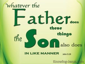 John 5:19 What The Father Does The Son Does (green)
