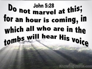 John 5:28 All In The Tombs WIll Hear His Voice white