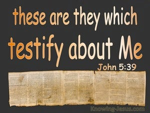 John 5:39 These Testify Of Me brown