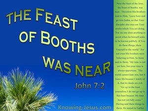 John 7:2 The Feast Of The Jews :Booths Was Near (blue)