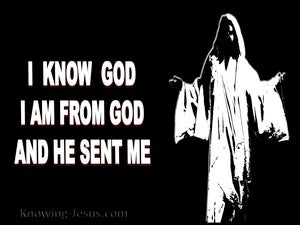 John 7:29 I Am Sent From God (black)