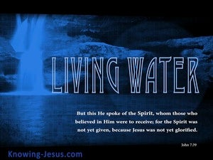 John 7:39 Living Water blue
