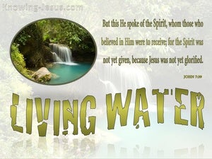 John 7:39 Living Water green