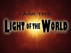 John 8:12 Jesus Is The Light Of The World brown