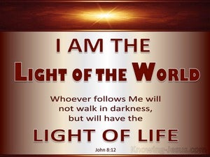 John 8:12 Jesus Is The Light Of The World red