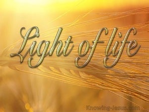 John 8:12 Jesus Is The Light Of TheWorld (yellow)