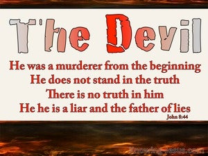 John 8:44 He Was A Murderer From The Beginning white