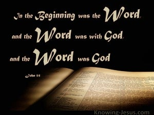 John 1:1 In The Beginning Was The Word (beige)