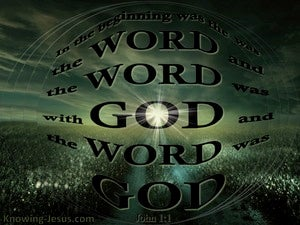 John 1:1 In The Beginning Was The Word (green)