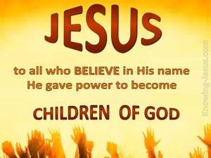 John 1:12 Children of God (brown)