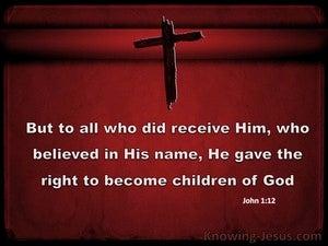 John 1:12 Children of God (red)