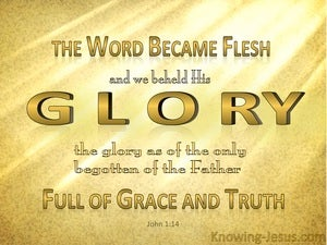 John 1:14 The Word Became Flesh (gold)