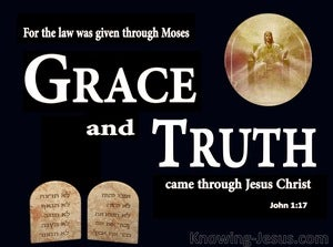 John 1:17 Grace and Truth Through Christ (brown)