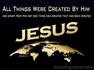 John 1:3 All Was Created By Him (yellow)