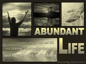 John 10:10 Life More Abundantly (gold)