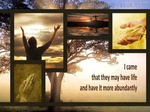 John 10:10 Life More Abundantly (beige)