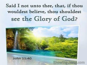 John 11:40 If You Would Believe You Should See The Glory Of God (utmost)08:29