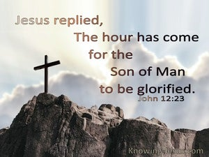 John 12:23 The Hour Has Come (blue)