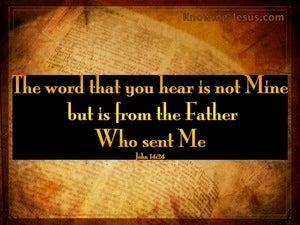 John 14:24 He Will Teach You All Things (black)