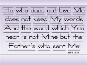 John 14:24 He Will Teach You All Things (blue)