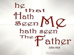John 14:9 He Who Has Seen Me Has Seen The Father (silver)