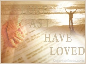 Love As I Have Loved (devotional) (beige) - John 13:34
