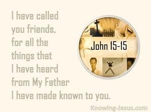 John 15:15 I have called you friends (beige)