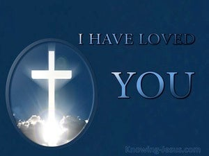 I Have Loved You (devotional) (navy) - John 13:34