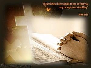 John 16:1 Kept From Falling (beige)