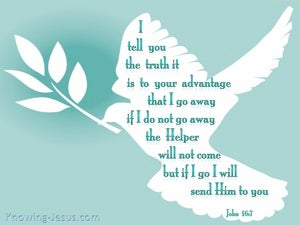 John 16:7 I Will Send The Helper To You (sage)