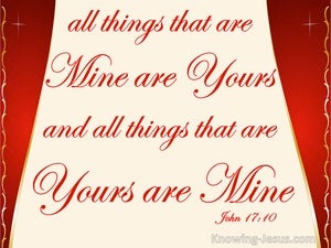 John 17:10 I Have Been Glorified In Them (red)