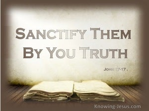 John 17:17 Sanctify They By You Truth (beige)