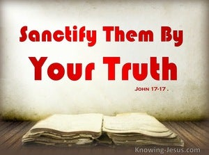 John 17:17 Sanctify They By You Truth (red)