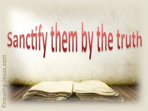 John 17:17 Sanctify Them By The Truth (red)