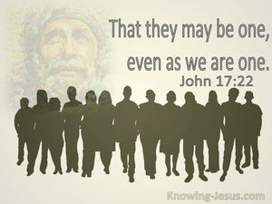 John 17:22 That We May Be One Even As We Are One (utmost)12:12
