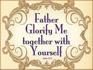 John 17:5 Glorify Me Together With Yourself (purple)
