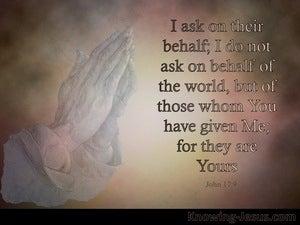 John 17:9 Jesus Prays On Behalf Of His Disciples (brown)