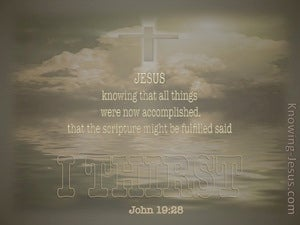 John 19:28 I Thirst (beige)