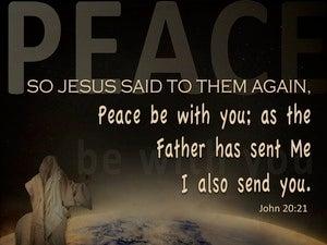 John 20:21 Peace, As The Father Send Me I Send You (brown)