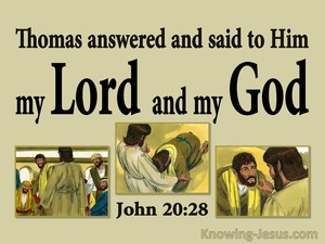 John 20:28 Thomas Said My Lord And My God (sage)