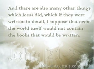 John 21:25 There are Many Other Things Jesus did (sage)