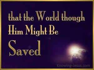 John 3:17 God Sent His Son Into The World (gold)