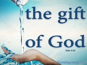 John 4:10 The Gift of God (blue)