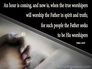 John 4:23 Worship In Spirit And Truth (black)
