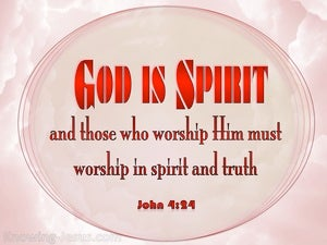 John 4:24 God Is Spirit (pink)