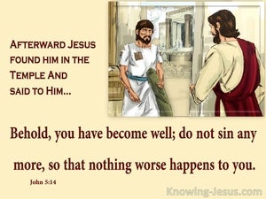 John 5:14 Jesus Found Him In Th Temple (beige)
