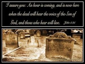 John 5:25 All Who Hear The Son Of God Will Hear And Life (black)